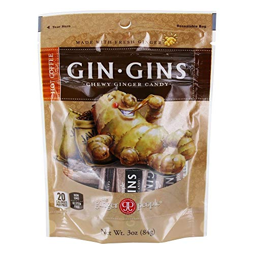 Ginger People - Gin Gins Chewy Ginger Candy Hot Coffee - 3 oz.
