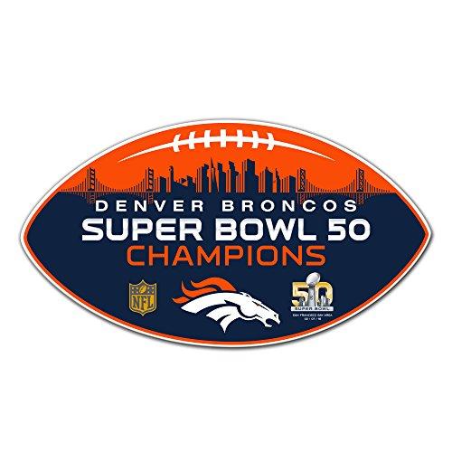 Fremont Die NFL Denver Broncos Super Bowl Champ Vinyl Magnet, 30,5cm Champs Tür