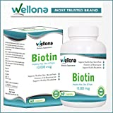 Wellona Biotin Maximum Strength Capsules For Hair, Skin & Nails - 10,000 Mcg (60 Capsules)