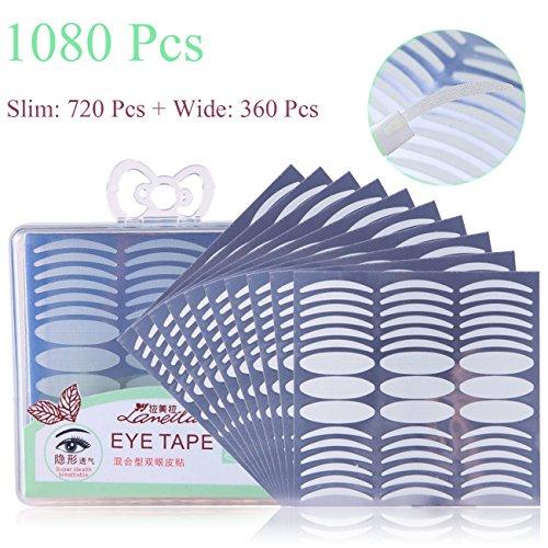 1080 pezzi / 540 paia di strisce per sollevare palpebre naturalmente invisibili strisce traspirante accessorio per il trucco occhi