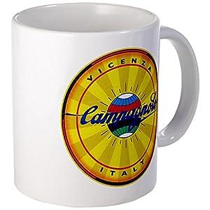 CafePress Unique-Tazza Mug stile Vintage, motivo con biciclette, Campagnolo, colore: bianco, Ceramica, Bianco, s