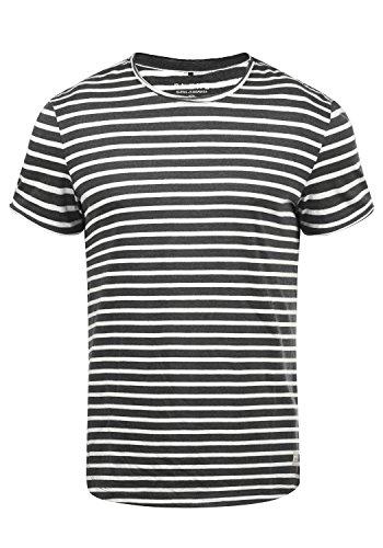 Blend Genesis Herren T-Shirt Kurzarm Shirt Streifenshirt Mit Streifen Und Rundhalsausschnitt, Größe:XXL, Farbe:Black - Wild Fashion Kostüm Halloween