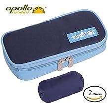 Apollo Walker Diabetes Organizer Medical Cooler Refrigerador de temperatura más fresco Bolsa de viaje Manteniendo el medicamento para la diabetes refrigerado y aislado (Dark blue)