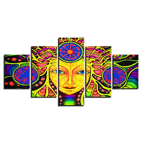 Lxn 5 Stücke - abstrakte Zeichen dekorative Malerei, Leinwand drucken Wand Kunst moderne dekorative Malerei, Foto - mit Rahmen, moderne Dekoration Print Dekor für Home Office