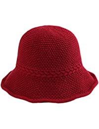 a65505ebd5ef7 Dosige Mujer Sombrero Hongo Gorra Bombín con Visera Curvada Bowler Hat  Sombrero Boina para Cálido Gorro