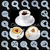 16 St�ck Kaffee Dekorieren Schablonen
