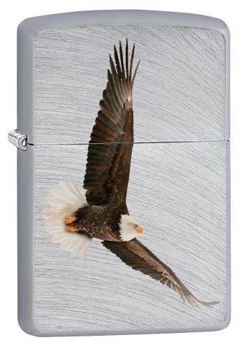 Zippo Feuerzeug 60002509 PL Eagle Benzinfeuerzeug, Messing, Chrome Arch, 1 x 3,5 x 5,5 cm