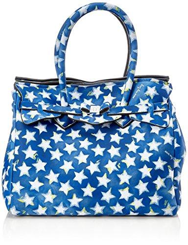 save my bag Damen Miss Henkeltasche, Blu (Stars), 34x29x18 cm