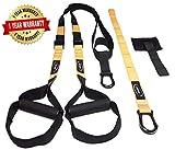 STRYSER- Entrenador en suspensión para entrenamiento de cuerpo completo, fortalecimiento, resistencia y tonificación muscular con anclaje para puerta