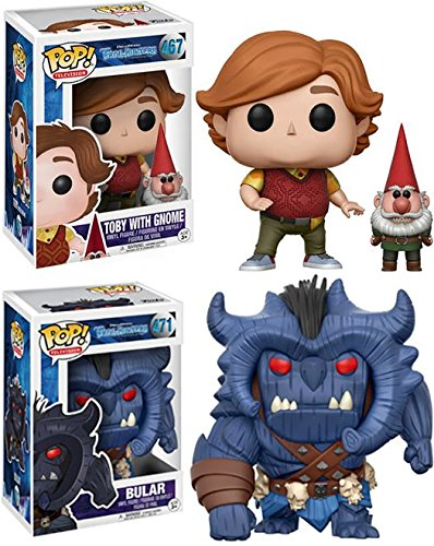 Funko POP Trollhunters Toby with Gnome Bular Stylized Vinyl Figure Bundle Set NEW