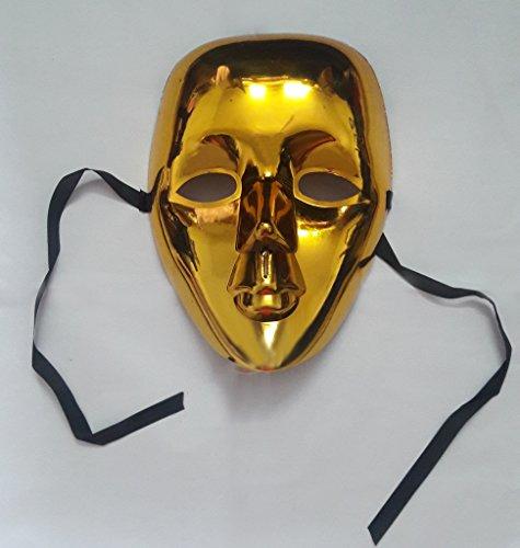 kraftz bunt® glänzendem Face Maske Halloween Masquerade Hen & Stag Party Geburtstag Weihnachten Fancy Dress Prop Zubehör gold