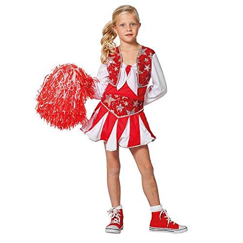 NEU Kinder-Kostüm Cheerleader, rot-weiß, Gr. (Kostüm Kinder Cheerleader)