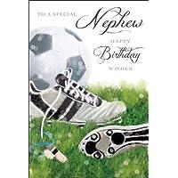 Nephew Football Shoes Birthday Card (JJ2372)