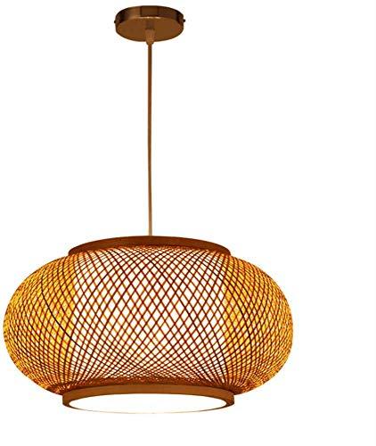 Lámpara colgante moderna, lámpara colgante de bambú para mesa de ...