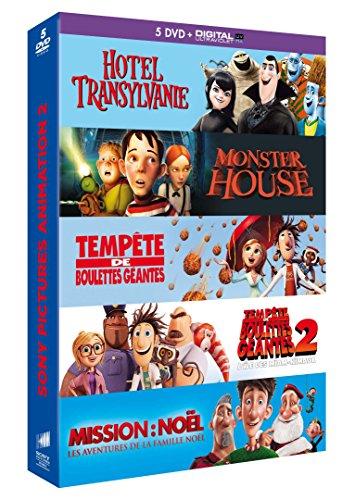 Coffret animation 5 DVD - Hôtel Transylvanie + Monster House + Tempête de boulettes géantes + Tempête de boulettes géantes 2 + Mission: Noël, les aventures de la famille Noël [DVD + Copie digitale]
