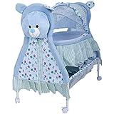 Baybee Baby Comfort Cradle Cot | New Born Baby Swing Cradle With Mosquito Net & Wheel Newborn Bedding Sets/Baby Nursery Bedding Bassinets For Newborn Baby (Blue)