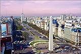 POSTERLOUNGE Póster 60 x 40 cm: Obelisk of Buenos Aires, The Plaza de la Republica de Miva Stock/Danita Delimont - impresión artística póster artístico