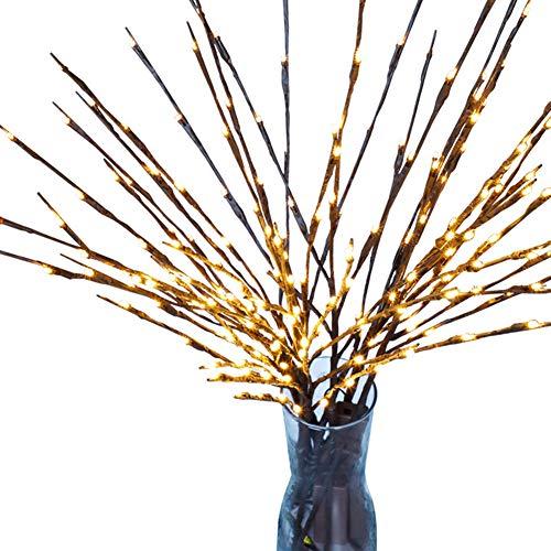 Blanketswarm, künstliches Zweig, batteriebetrieben, dekorative Lichter aus Weide, Zweige mit Licht, für Weihnachten, Dekoration, 76,2 cm, 20 LED-Lichter