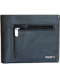 Naysa Men, Wallets Boys, Girls Black Genuine Leather Wallet (6 Card Slots)
