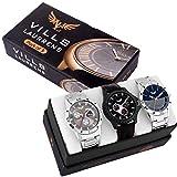 #6: Vills Laurrens Analogue Multicolor Dial Combo Of 3 Men's & Boy's Watch - Vl-1111-1112-1113