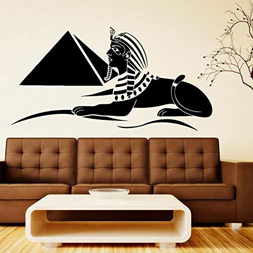 woyaofal Ägyptische Symbol Wandtattoo entfernbare Vinyl Aufkleber Sphinx Wandbilder Kunst Schlafzimmer Innenraum Wohnzimmer PVC Home Decor81x42cm