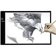 Tableta de Luz, U-Kiss Tablero de Trazado Digital, Tamaño A4 , Mesa de Luz 3 Tipos de Luminosidad Ajustable