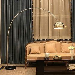 ZSAIMD Lámpara de pie for sala de estar y dormitorio, iluminación 360, brazo de brazo ajustable y cabeza Arco compatible con poste Poste de luz for lectura Oficina Interruptor de pie Oficina E27 Acces