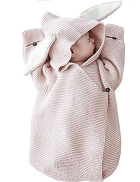 cystyle bambino bambini bambino coperta di lana Knit Swaddle Sacco a pelo sacco a pelo Stroller Wrap per 0–12...