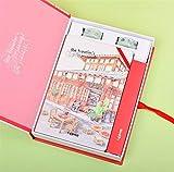DAxixi Student Stationery Educational Supplies Idée pour Les Filles Mignon Coffret Cadeau pour Ordinateur Portable et Papeterie (Sichuan Restaurant)