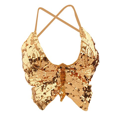 Prettyia Sexy Spitze Schmetterling Tops Bauchtanz BH Top Kostüm - - Bh Top Tanz Kostüm