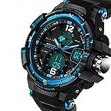 QBD Uhr Analog-Digital mit Plastik Armband QBD G Style blue