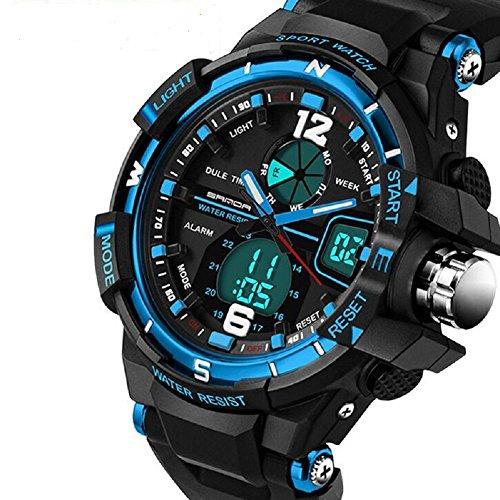 g shock kinder QBD Uhr Analog-Digital mit Plastik Armband QBD G Style blue