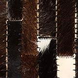 Xingshuoonline Teppich Echtes Leder Patchwork Schwarz Weiß für Wohnzimmer Schlafzimmer Vorleger 120 x 170 cm