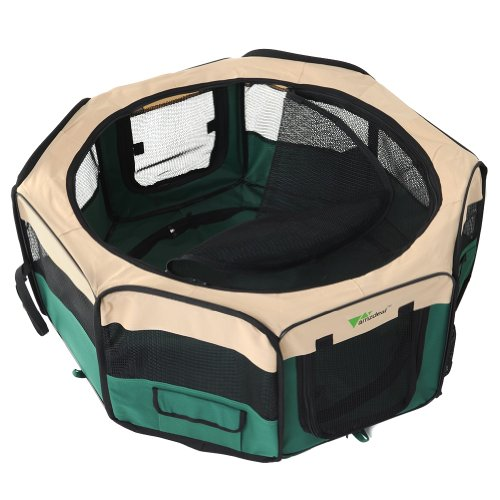 Amzdeal-Fabric-Pet-Play-Pen-Folding-Pet-Dog-Cat-Rabbit-Pig-Playpen-Pet-Kennel-Cage-Small