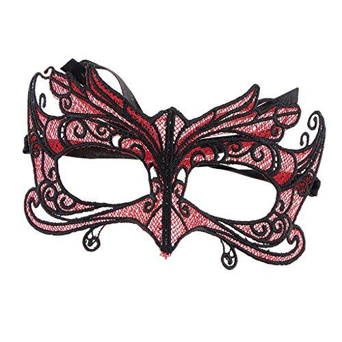 aske Sexy Spitze Augenmaske Venezianische Gesichtsmaske Frauen Party Kostüm Zubehör Halloween (Um Maskerade Masken Online)