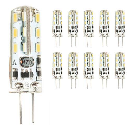 mengjay® 10 Stück - G4 LED Lamper 2 Watt 12V AC/DC Warmweiß aus Silikon (Silica Gel) Lampe Leuchte Leuchtmittel
