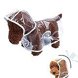 X-Cool transparente wasserdichte Regenjacke Haustier Regenschutz Kleidung wasserdicht Poncho für kleine Hunde/Katzen (S)