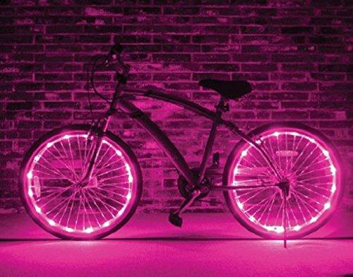 BXT® LED Fahrradreifen Beleuchtung Reifen Rad Licht Lampe Leuchte Radbeleuchtung Licht Felgenlicht(NUR FÜR EIN RAD)