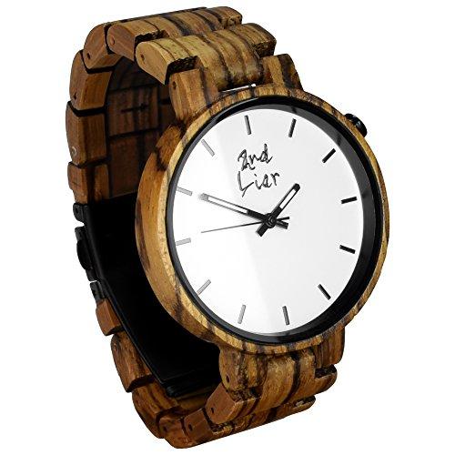 2nd Liar / Classicwatch / einzigartige, edle Holz Armbanduhr / zeitlose Armband Uhren aus Holz / vegane Holzuhr / handgefertigt, unisex / 42mm / Zebraholz