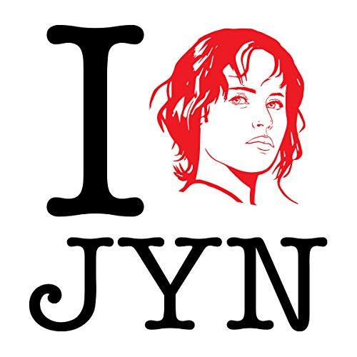Star Wars Rogue One I Heart Jyn Erso Black Women's Sweatshirt white