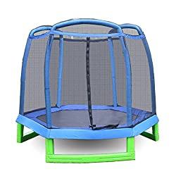 AMDirekt children's trampoline with net toddlers trampoline to jump Diameter: 213CM