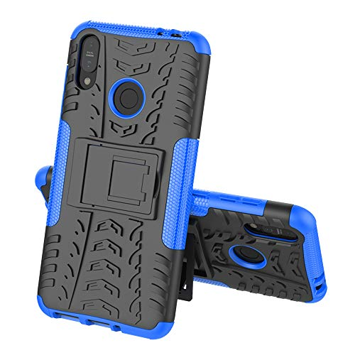 FanTing Hülle für Asus Zenfone Max (M2) ZB633KL, [Armor Box] [Doppelschicht] [Heavy Duty Case] Strong Rugged Shock Proof Schutzhülle 2in1 Hybrid Case -Blau