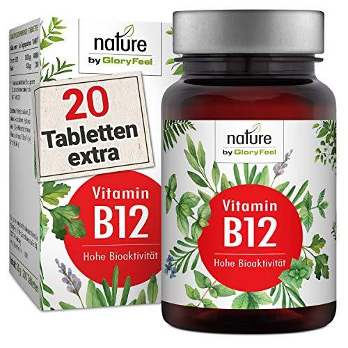 Vitamin B12 1000µg 200 Tabletten - Beide Bioaktiven B12 Formen Adenosyl- & Methylcobalamin + Depot + 400µg Folsäure als 5-MTHF - Laborgeprüfte Herstellung in Deutschland