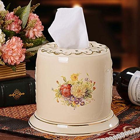 YUENLONG In stile europeo di soggiorno sono decorate con ornamenti in ceramica color avorio retrò creative vassoio di aspirazione