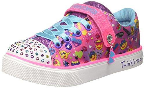 Skechers Mädchen Twinkle Breeze 2.0 - Character Sneaker, Mehrfarbig (Hot Pink/Multicolour), 33 EU -