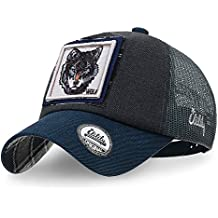 ililily Wolf Deer Animal Square Patch Casual Mesh Baseball Cap Trucker Hat