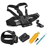 SHOOT Zubehör Bundle Set für GoPro 7/6/5/4/3+/3/2 SJ4000 SJ5000 Sportarten Kamera Kopf Gurtband + Brust Gurtband + Floating Grip + Tasche