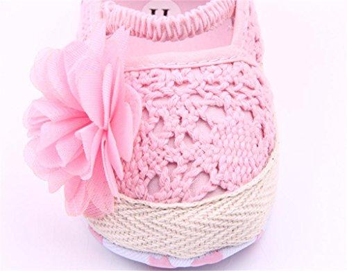 Bebê Sapatos Criança Embelezado Rosa Sapatos Flores Berço 13 Bonito Bebê wXT5ZnOqFF