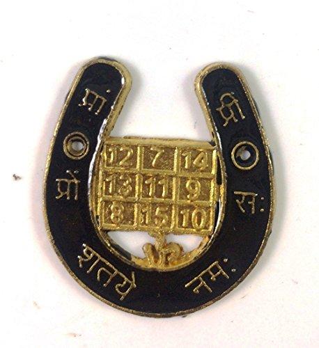 divinetmpack de 2, Feng Shui Shani Yantra buena suerte herradura de caballo, oxido para la salud riqueza y suerte