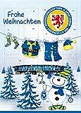Adventskalender mit Milchschokolade EINTRACHT BRAUNSCHWEIG (120 Gramm / 35 x 25 x 1,5 cm) Limited Fan Edition